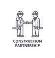 construction partnership line icon sign vector image vector image
