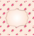 cute flower background with frame eps10 vector image