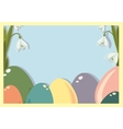 Easter frame with easter eggs Easter eggs with vector image vector image