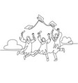 education celebration concept one line drawing vector image