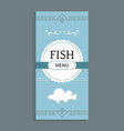 fish menu template seafood dishes list vector image vector image