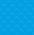 fisherman hat pattern seamless blue vector image vector image