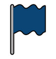 flag position isolated icon vector image vector image
