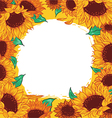 frame pattern flower sunflower vector image vector image
