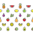 Fruits seamless background texture vector image