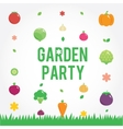 Garden party poster with vegetables icons set vector image vector image