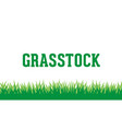 grass logo background vector image vector image