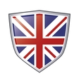 great britain flag emblem icon vector image vector image
