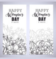 greeting card tamplate vector image