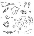 hand drawn doodle element collection isolated vector image vector image