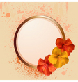 hibiscus flowers and border vector image vector image