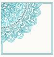 invitation card with mandala vector image
