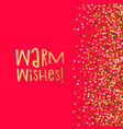 love banner warm wishes vector image vector image
