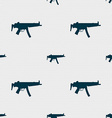 machine gun icon sign Seamless pattern with vector image vector image
