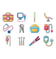 medical tools icon set cartoon style vector image vector image