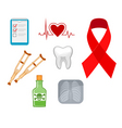 medicine icons and symbols vector image