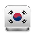 Metal icon of South Korea vector image vector image