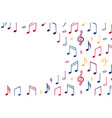 music notes background banner template melody vector image vector image
