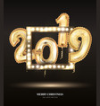 new year count symbol balloon on black vector image vector image