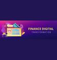 open banking platform concept banner header vector image vector image