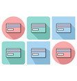 outlined icon bank card with parallel and not vector image