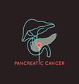 pancreatic cancer logo icon vector image