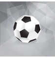 Paper Soccer Ball - Trendy Design Template vector image