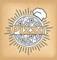 pizza cafe menu cover italian cuisine dishes vector image