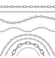 realistic 3d detailed metal chains set vector image