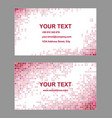 Red abstract business card template design vector image vector image