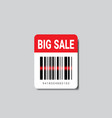sale sticker with bar code for scanning icon vector image