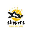 sandal or mountain shoe logo vector image vector image