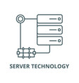 server technology line icon linear concept vector image vector image