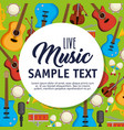 set musical instruments icons vector image vector image