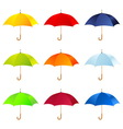 Set of umbrellas vector image