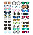 set real colorful style glasses vector image