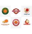set vintage color basketball championship logos vector image vector image