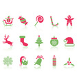simple Christmas icons set vector image vector image