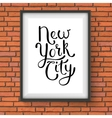 Simple New York City Concept on a Hanging Frame vector image vector image