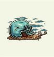 snail skull vector image vector image