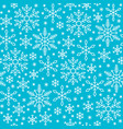snow flake line seamless pattern winter background vector image vector image