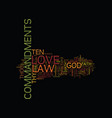 the law of love text background word cloud concept vector image