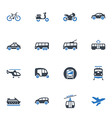Transportation Icons - Blue Series vector image vector image