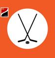 two hockey sticks vector image vector image