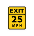 usa traffic road signs slow downmaximum advised vector image