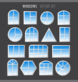 various simple windows vector image