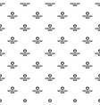 winter hat pattern seamless vector image vector image