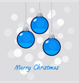 winter holiday blue christmas vector image