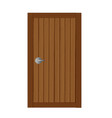 wooden gates in soft brown cartoon vector image