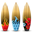 wooden surf boards vector image vector image